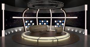 Virtueller Fernsehchat stellte 20 ein Lizenzfreies Stockfoto