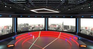 Virtueller Fernsehstudio-Chat stellte 2 Hintergrund 5 ein Lizenzfreie Stockbilder