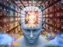 Virtueller Gedanke Stockbilder