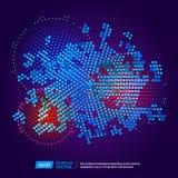 Virtueller Technologiekreis Stockbild