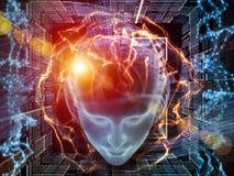 Virtueller Verstand stockbilder