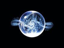 Virtueller Wellen-Partikel stockbild