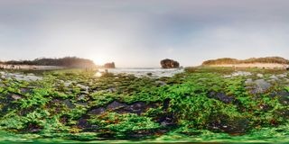 Virtuelles Foto von Jungwok-Strand 360 Grad stockfoto