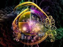 Virtuelles Gestaltungselement Stockfoto