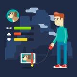 Virtuelles Haustier Lizenzfreies Stockfoto