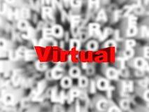 Virtuelles Wort auf Typografiehintergrund Stockbilder