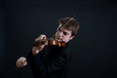 Virtuose-Violinist Playing Stockfoto