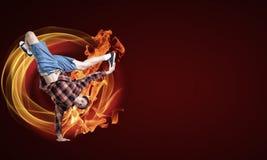 Virtuoso dancer Stock Images