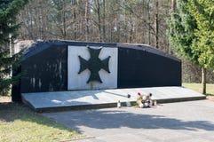 Virtuti Militari dla memorize obrońców Mlawa obrazy royalty free