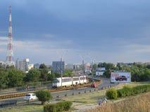 Virtutii road in Crangasi neighborhood in Bucharest Stock Photo