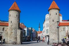 Viru Gate in Tallinn, Estonia royalty free stock photography