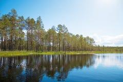 Viru Raba swamp lake. Viru Raba swamp lake in Estonia Royalty Free Stock Photo