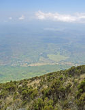 Virunga Mountains aerial view Stock Image