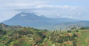 Virunga Mountains aerial view. Aerial view around the Virunga Mountains in Uganda (Africa Royalty Free Stock Photography