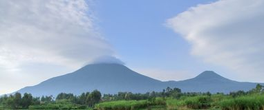 Virunga Mountains panorama Stock Photos