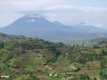 Virunga Mountains in Uganda Royalty Free Stock Image