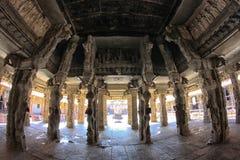 Virupaksha寺庙,亨比内部  库存图片