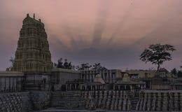 Virupaksha świątynia w hampi karnakata ind zdjęcie stock