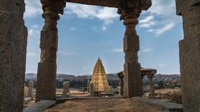 Virupaksha świątynia w hampi karnakata ind widoku od kamienia obrazy royalty free