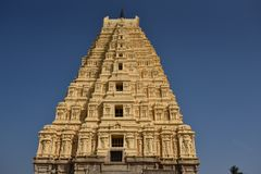 Virupaksha świątynia, Hampi, Karnataka, India fotografia stock