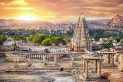 Virupaksha świątynia w Hampi zdjęcia royalty free
