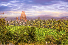Virupaksha Hindu Temple in Hampi, India. Stock Photo