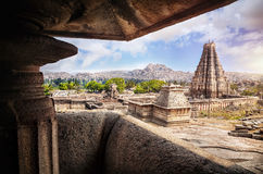 Virupaksha-Tempel in Hampi Stockbild