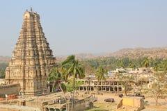 Virupaksha tempel, Hampi, Indien Arkivfoton