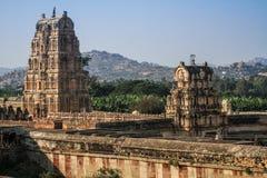 Virupaksha-Tempel, Hampi, Karnataka, Indien lizenzfreies stockbild