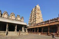 Virupaksha temple at blue sky in Hampi, Karnataka. India Stock Photos