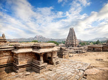 Virupaksha temple in Hampi. Virupaksha temple at blue sky in Hampi, Karnataka, India stock images