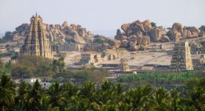 Virupaksha Temple in Hampi, Karnataka. India royalty free stock photography