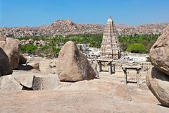 Virupaksha Temple, Hampi. Virupaksha Temple in Hampi, India stock image