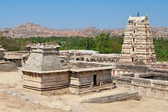 Virupaksha Temple, Hampi. Karnataka state, India stock image