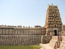 Virupaksha Temple, located in the ruins of ancient city Vijayanagar at Hampi, India. Stock Photos