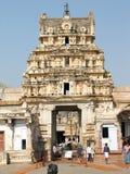 Virupaksha Temple, located in the ruins of ancient city Vijayanagar at Hampi, India. Royalty Free Stock Images