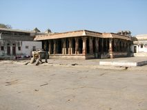 Virupaksha Temple, located in the ruins of ancient city Vijayanagar at Hampi, India. Royalty Free Stock Photo