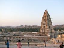 Virupaksha Temple, located in the ruins of ancient city Vijayanagar at Hampi, India. Royalty Free Stock Image