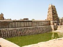 Virupaksha Temple, located in the ruins of ancient city Vijayanagar at Hampi, India. Stock Photography