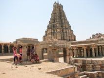 Virupaksha Temple, located in the ruins of ancient city Vijayanagar at Hampi, India. Royalty Free Stock Photography
