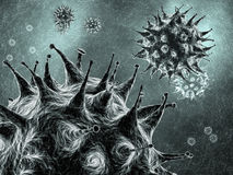 Virus. Es , highly detailed 3d illustration Stock Photography