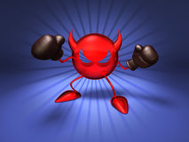 Virus. Ready to fight, with boxing gloves Royalty Free Stock Photos