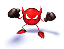Virus. Ready to fight, with boxing gloves Royalty Free Stock Images