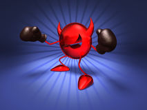 Virus. Ready to fight, with boxing gloves Stock Image