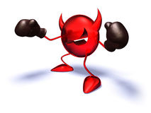 Virus. Ready to fight, with boxing gloves Stock Photography