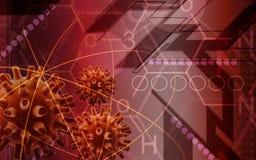Virus. Digital illustration of Herpes Simplex Virus Stock Image