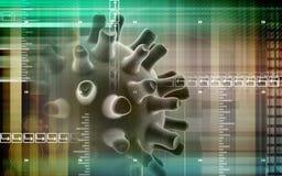 Virus. Digital illustration of Herpes Simplex Virus Stock Photography