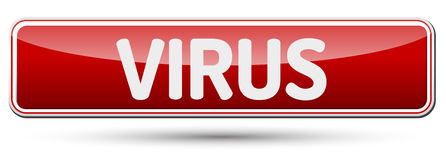 VIRUS - Abstract beautiful button with text. Stock Images