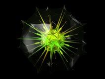 Virus abstracto en cápsula protectora imagen de archivo libre de regalías