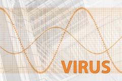 Virus-abstrakter Hintergrund Lizenzfreie Stockfotos